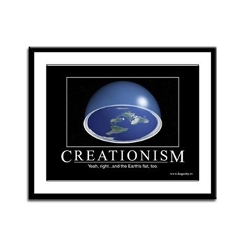 """""""Creationism"""" (Un-) Inspirational Framed"""