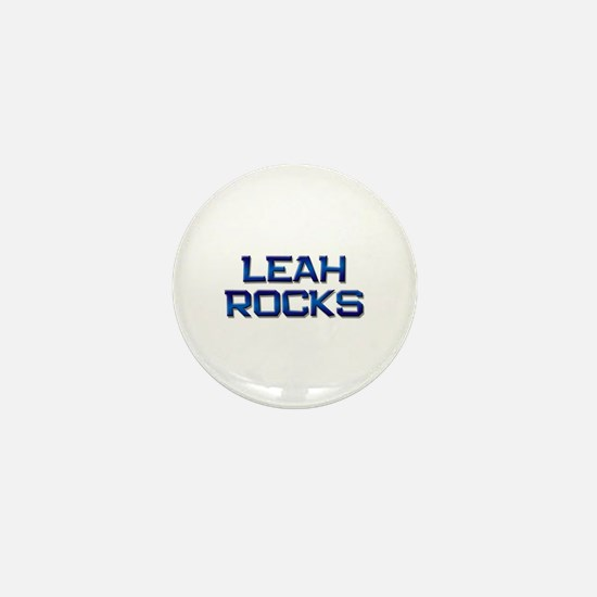leah rocks Mini Button