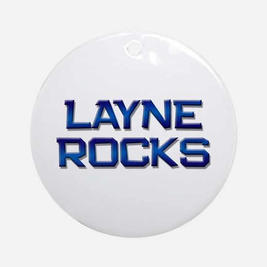 layne rocks Ornament (Round)
