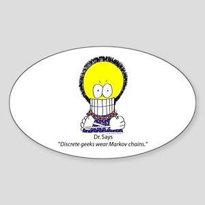 Dr. Autopoiesis Oval Sticker