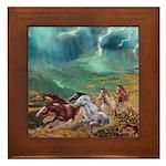 Wild Horses Framed Tile