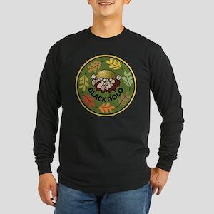 Black Gold Composting Long Sleeve Dark T-Shirt