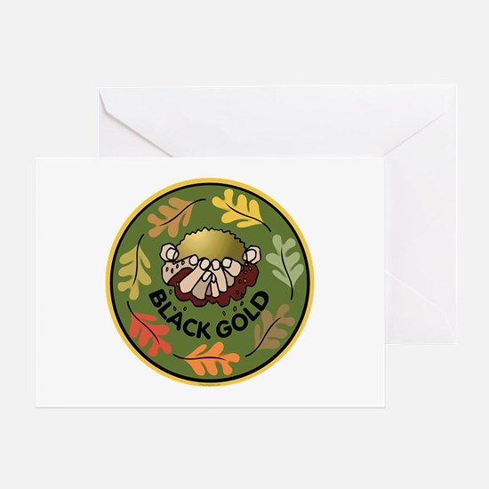 Black Gold Composting Greeting Card