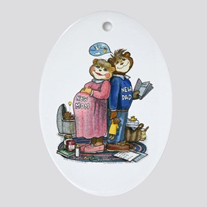 New Parents - Oval Ornament