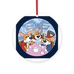 Corgi Tea Party Ornament (Round)
