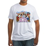 Corgi Tea Party Fitted T-Shirt