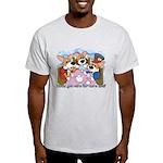 Corgi Tea Party Light T-Shirt