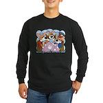 Corgi Tea Party Long Sleeve Dark T-Shirt