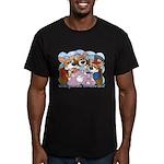 Corgi Tea Party Men's Fitted T-Shirt (dark)