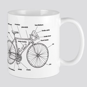 Bicycle Anatomy Mug