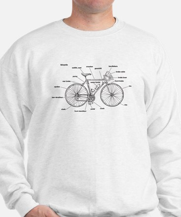 Bicycle Anatomy Sweatshirt