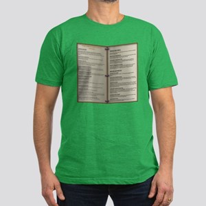 Dragon's Den Tavern Menu Men's Fitted T-Shirt (dar