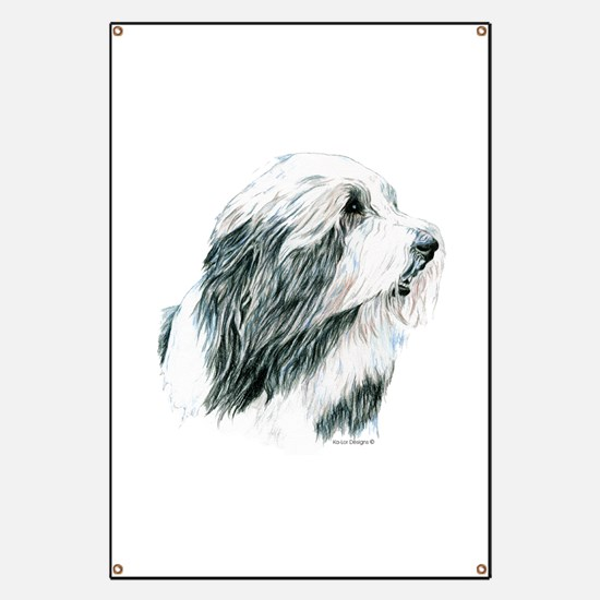 Grey Bearded Collie Beardie Banner