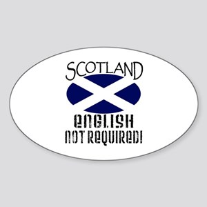 Scottish Independence Oval Sticker