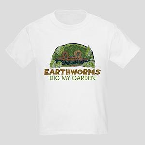 Garden Earthworms Kids Light T-Shirt