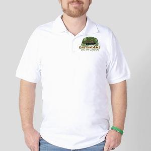 Garden Earthworms Golf Shirt