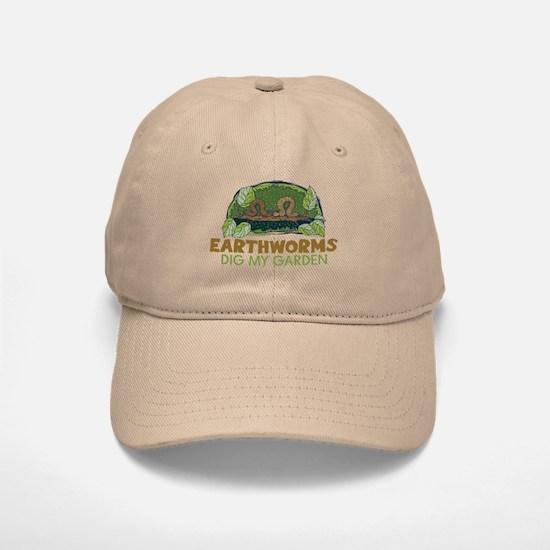 Garden Earthworms Baseball Baseball Cap