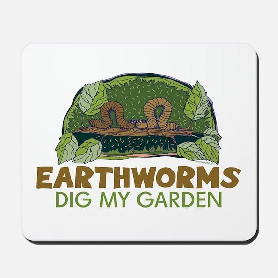 Garden Earthworms Mousepad