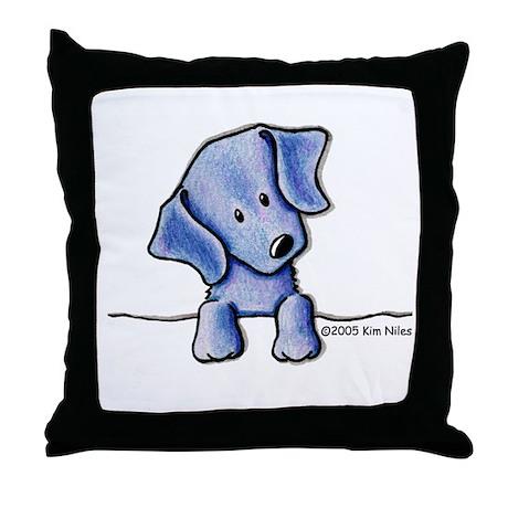 Weimaraner Pocket Pup Throw Pillow