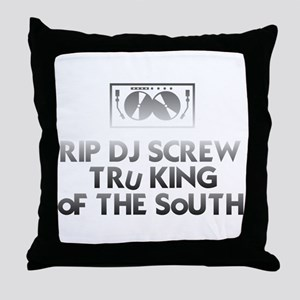 RIP DJ Screw Throw Pillow
