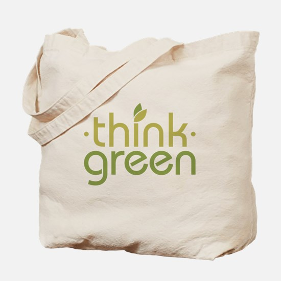 Think Green [text] Tote Bag