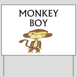 """""""Monkey Boy"""" Yard Sign"""