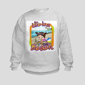 Charlotte's Day at the Beach Kids Sweatshirt