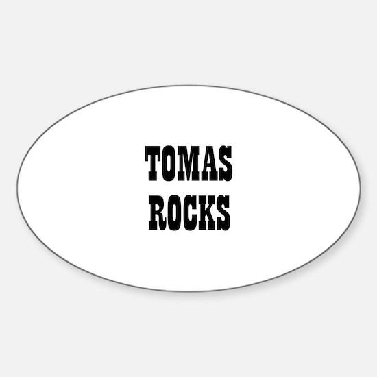 TOMAS ROCKS Oval Decal