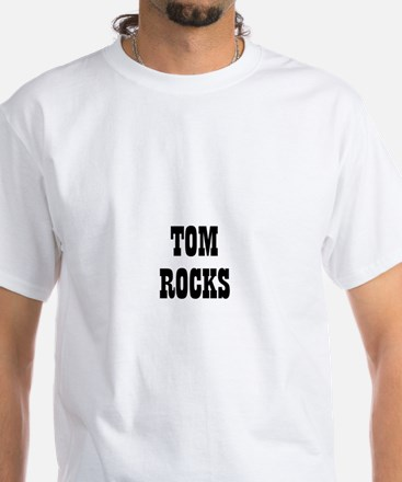 TOM ROCKS White T-Shirt