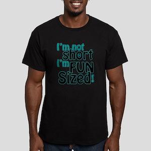 Not Short, Fun Sized Men's Fitted T-Shirt (dark)