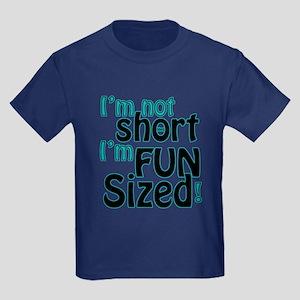 Not Short, Fun Sized Kids Dark T-Shirt