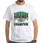 Irish Darts Champ White T-Shirt