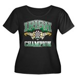 Irish Darts Champ Women's Plus Size Scoop Neck Dar