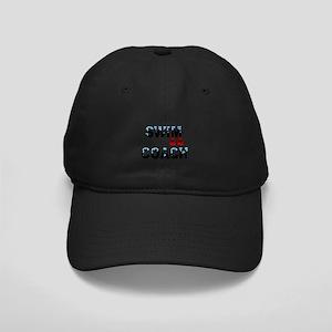 Swim Coach Black Cap