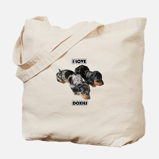 I Love Doxies Tote Bag