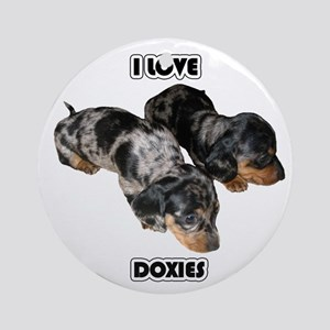 I Love Doxies Ornament (Round)
