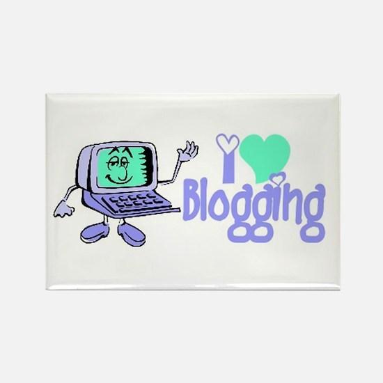 Cute I love blogging Rectangle Magnet