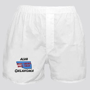 alva oklahoma - been there, done that Boxer Shorts