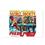 SECRET SOCIETY PIZZA PARTY Postcards (Package of 8