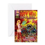 LUCY HELL, Devilgirl Greeting Card