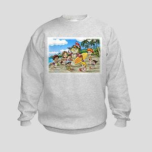 Fiaba and Friends Surfing Sandman Kids Sweatshirt