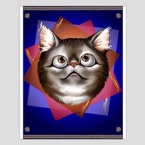 Awestruck Kitty Small Poster