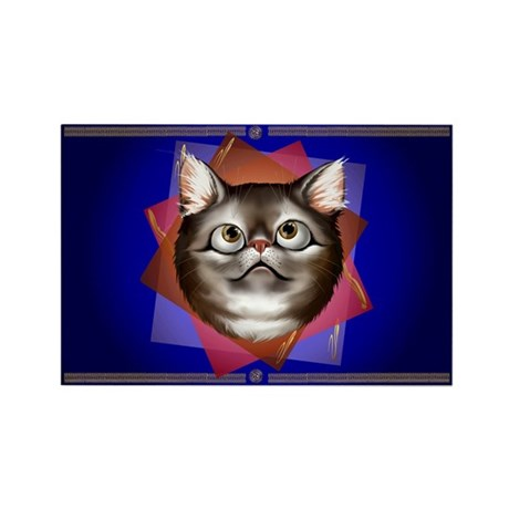 Awestruck Kitty Rectangle Magnet (10 pack)