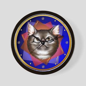 Awestruck Kitty Wall Clock