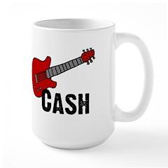 Guitar - Cash Large Mug