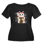 Maneki Neko Women's Plus Size Dark T-Shirt