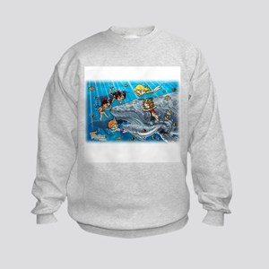 Fiaba and Friends Whale Song Kids Sweatshirt
