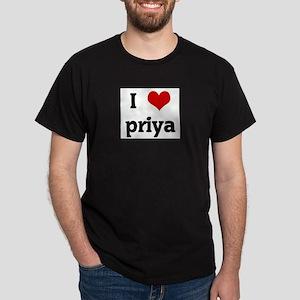 I Love priya Ash Grey T-Shirt