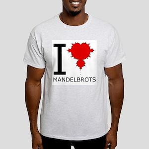 I Heart Mandelbrots Ash Grey T-Shirt