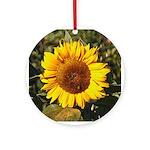 Tuscany Sunflower - Holiday Ornament Round